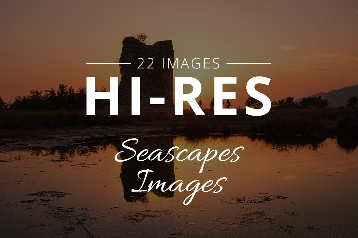 500+ Stock Images. Ultimate Photo Bundle  – $59 - THUMB seascapes