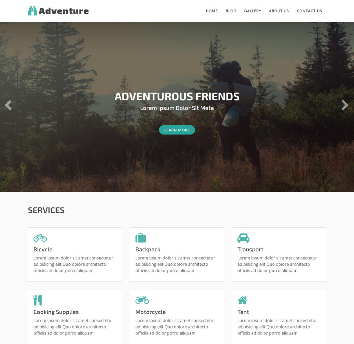 20 Premium HTML Template - adventure