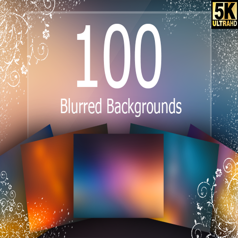 100 Blurred Backgrounds - banner490x490
