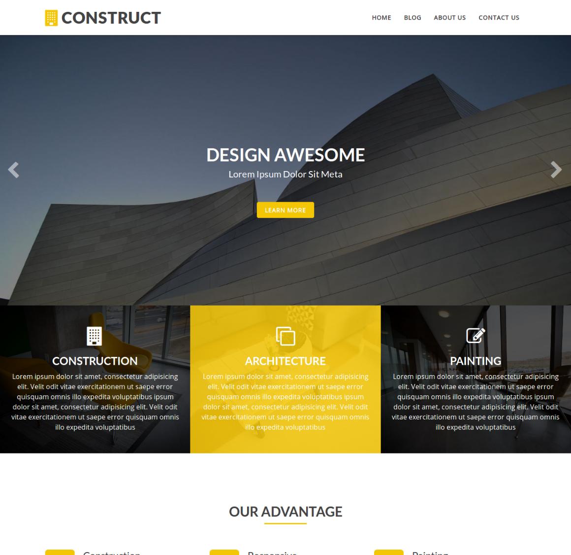 20 Premium HTML Template - construct