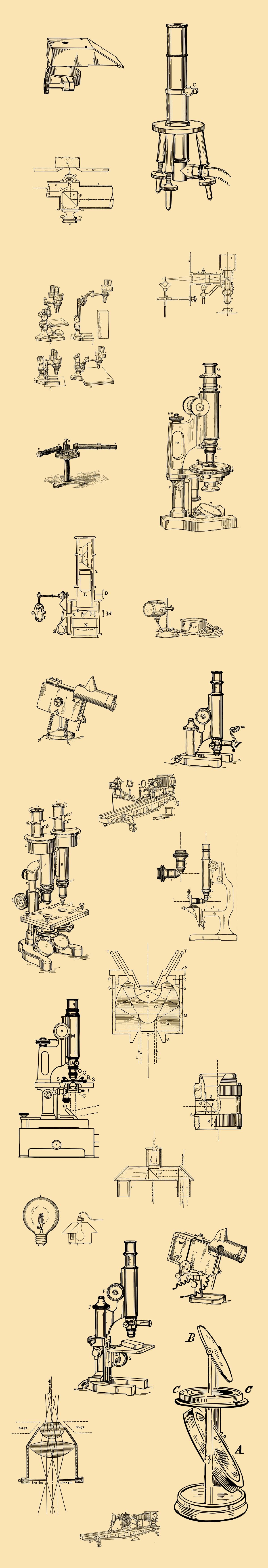 Vintage Optical Devices Illustrations