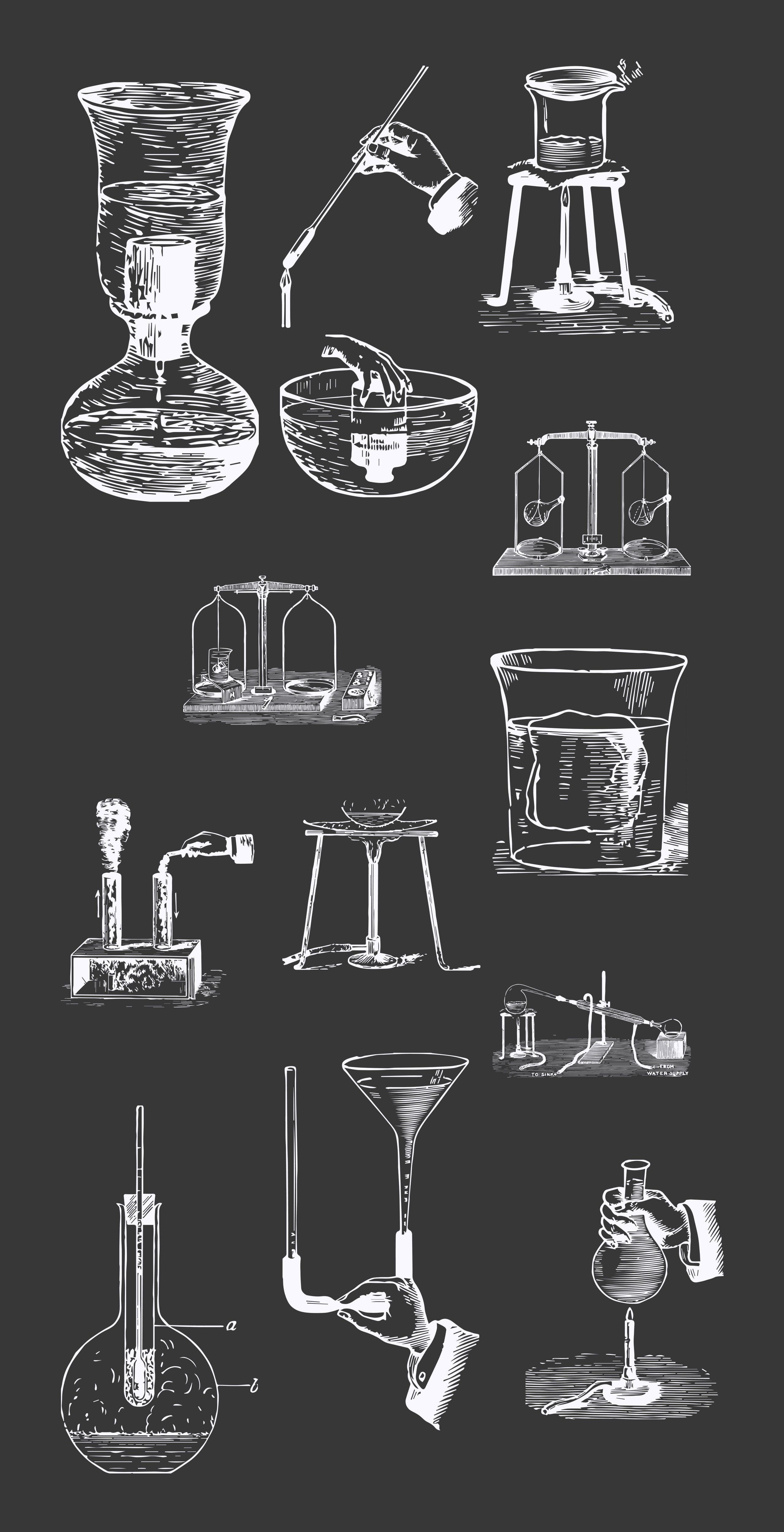 Vintage Chemistry Vector Illustrations [70 Items] - large preview copy