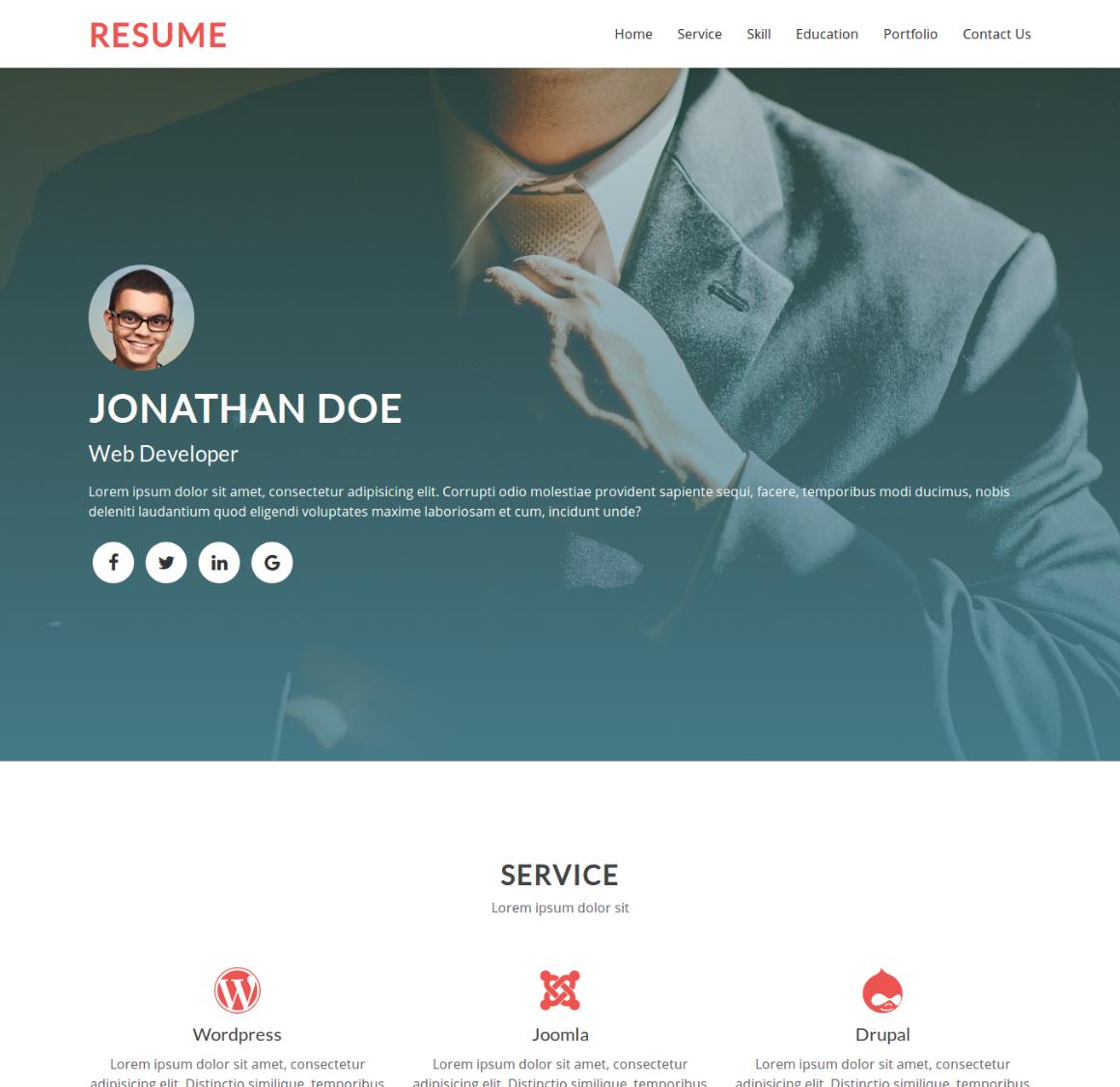 20 Premium HTML Template - resume