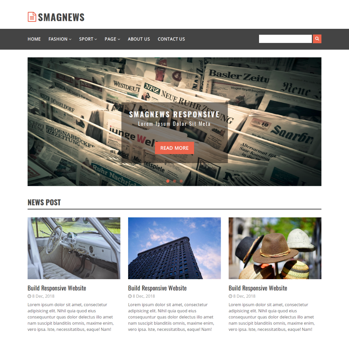20 Premium HTML Template - smagnews