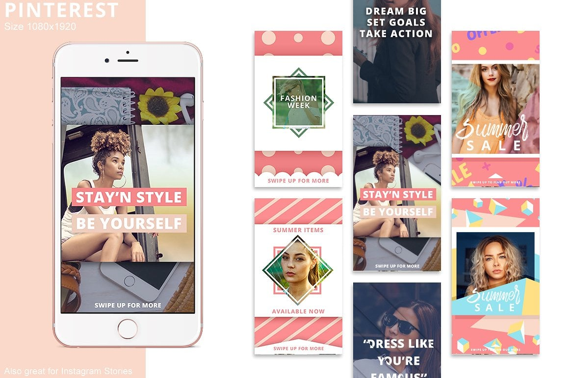 Animated Instagram Graphics Bundle - social media booster template instagram facebook pinterest instagram story promotion entrepreneur business promote promotion logo animation animate