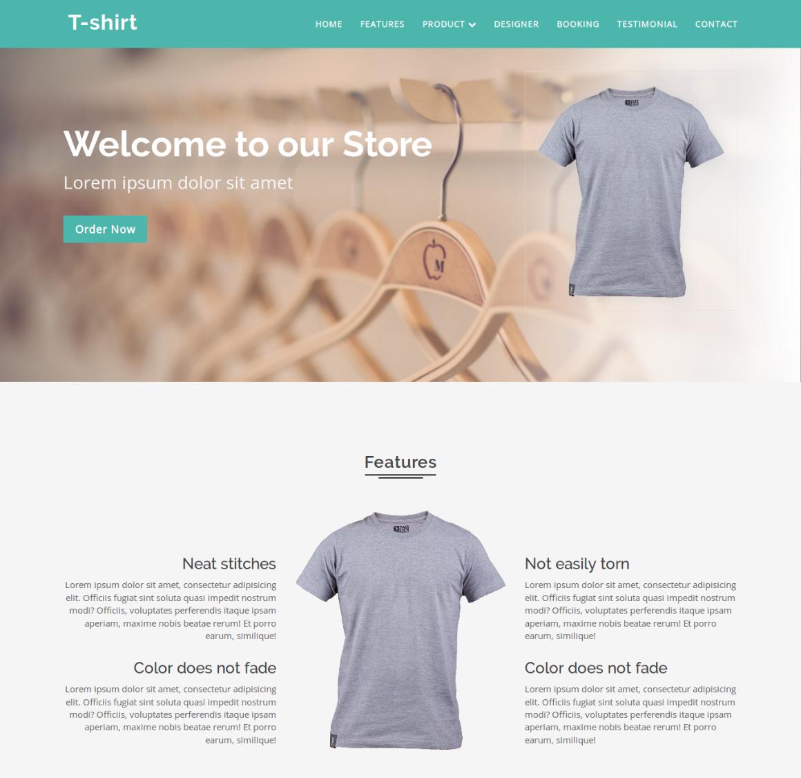 20 Premium HTML Template - t shirt