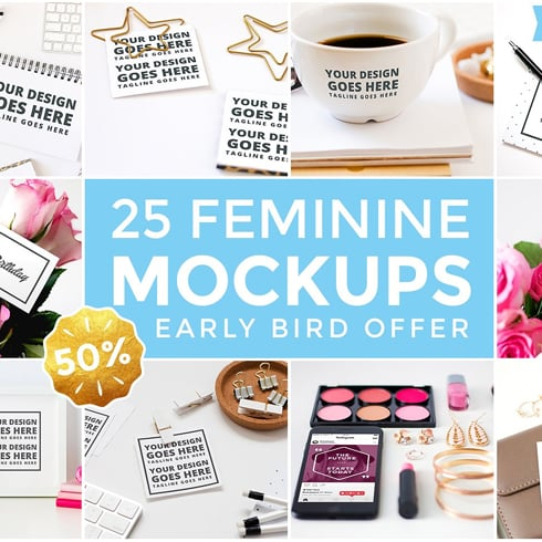 25 Feminine Mockups - just $5 - Femini 1 Main Cover