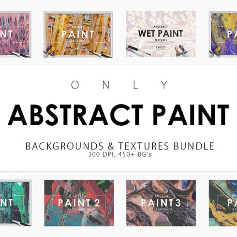 Only Paint Backgrounds Bundle - $14 - abstract prev 1