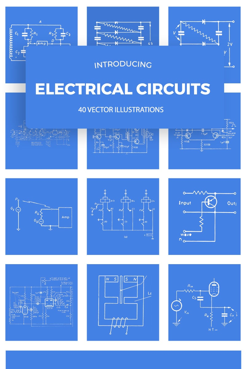 Vintage Electrical Circuits Illustrations
