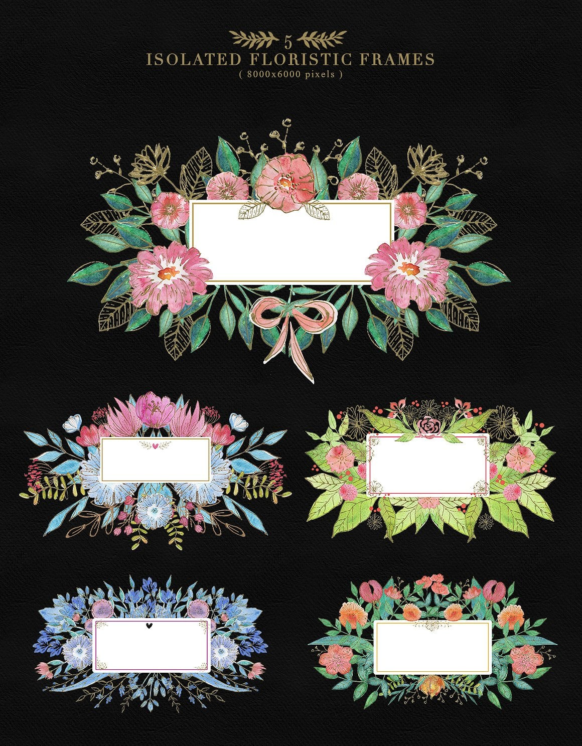 Collection of Floristic Cliparts - prew3 5 floristic frames