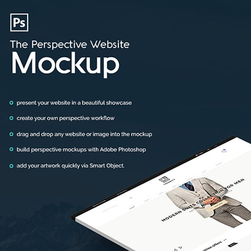 The Perspective Website Mockup - $9 - 01