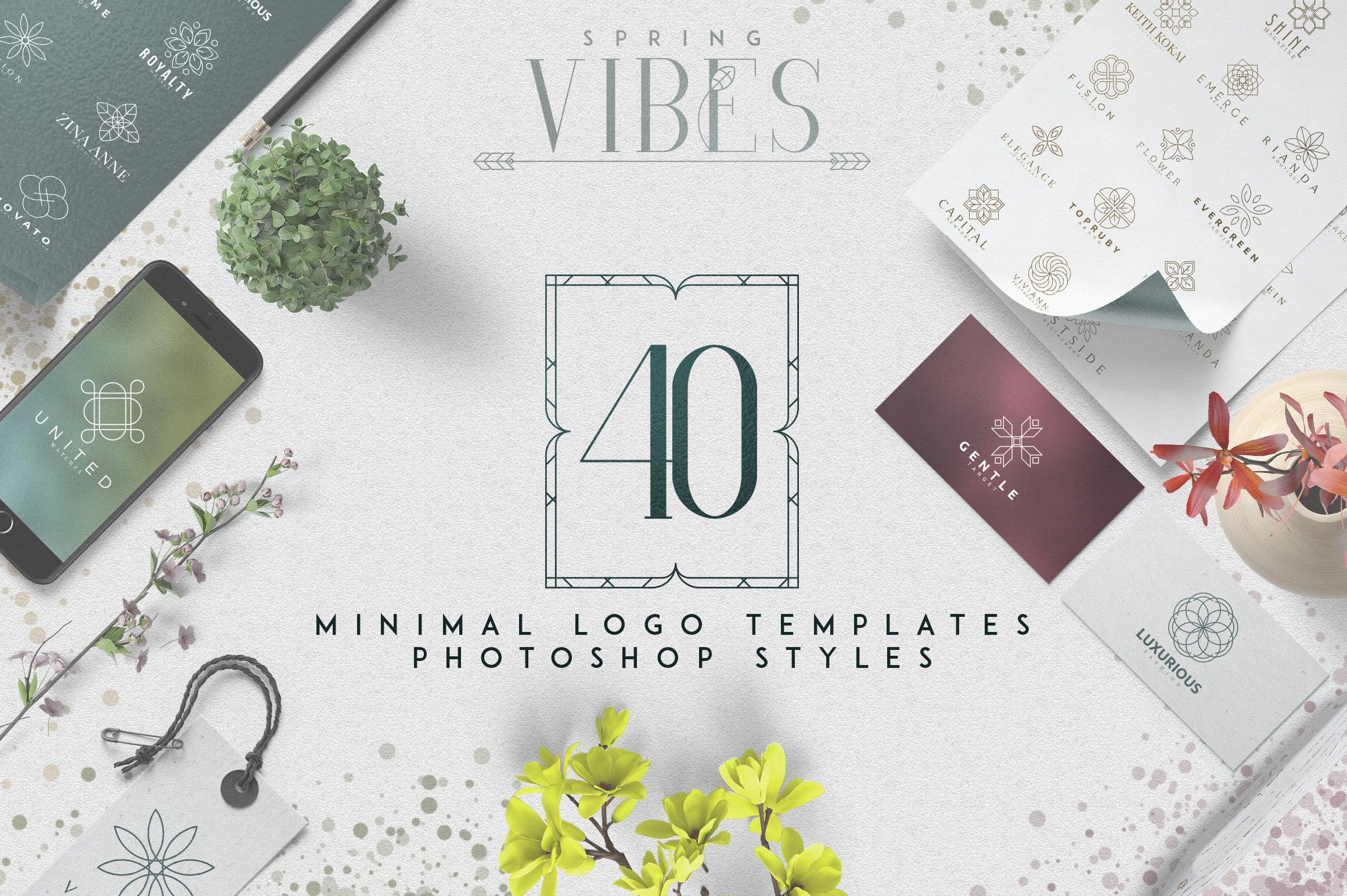 40 Minimal Logo Templates