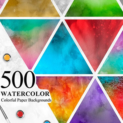 500 Watercolor Paper Backgrounds & Textures Collection - Prev1