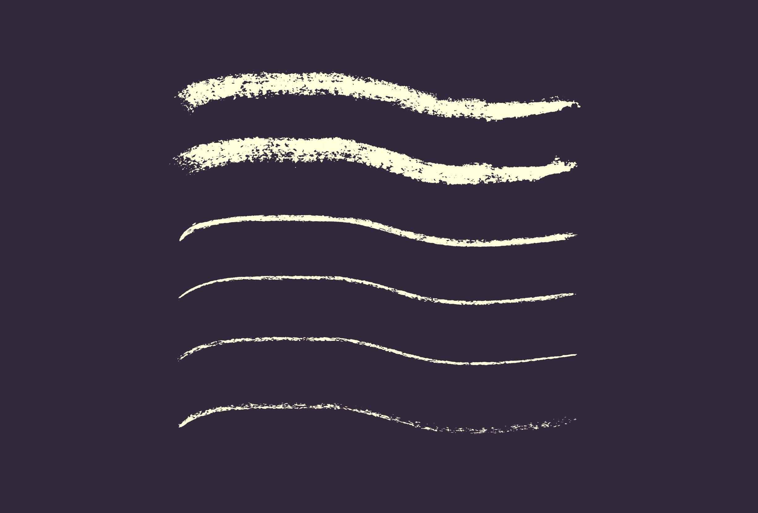 30 Best Line Art Illustrator Brushes (Wax Crayons) - brushes presentation 0 0