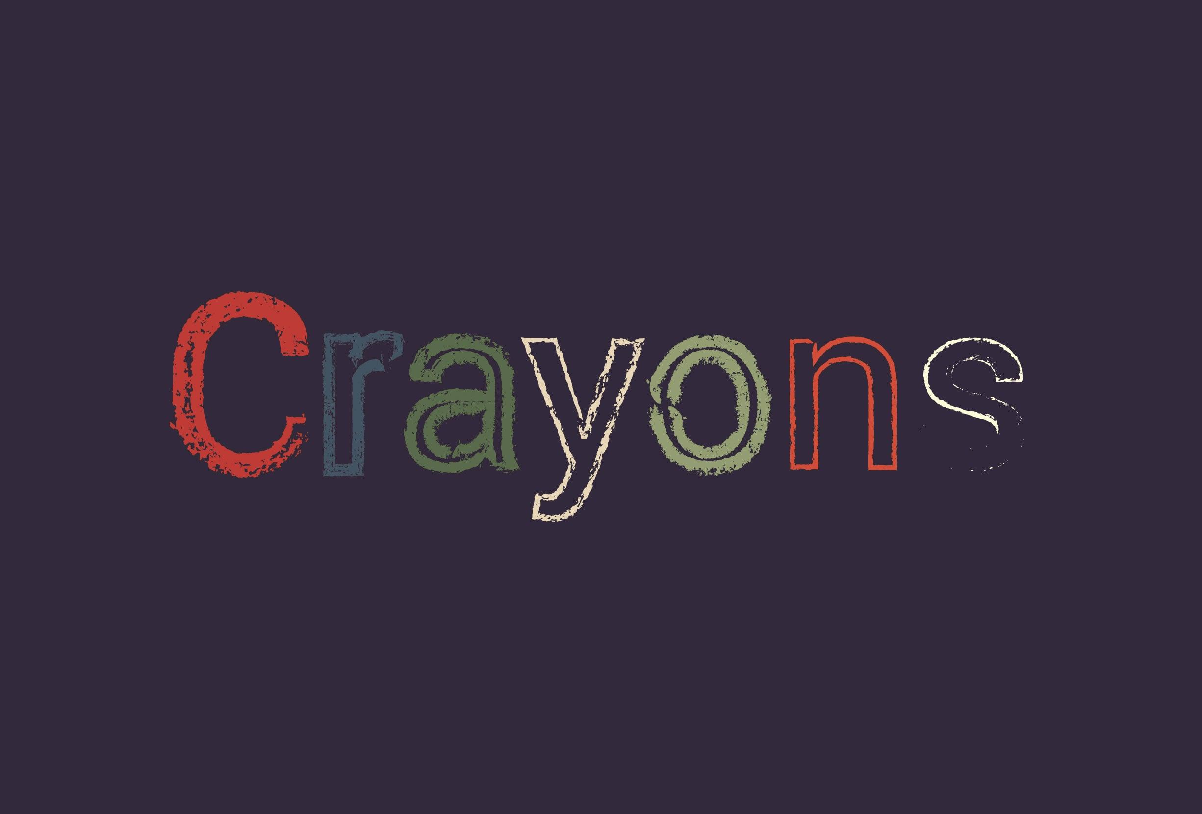 30 Best Line Art Illustrator Brushes (Wax Crayons) - brushes presentation 11111 0