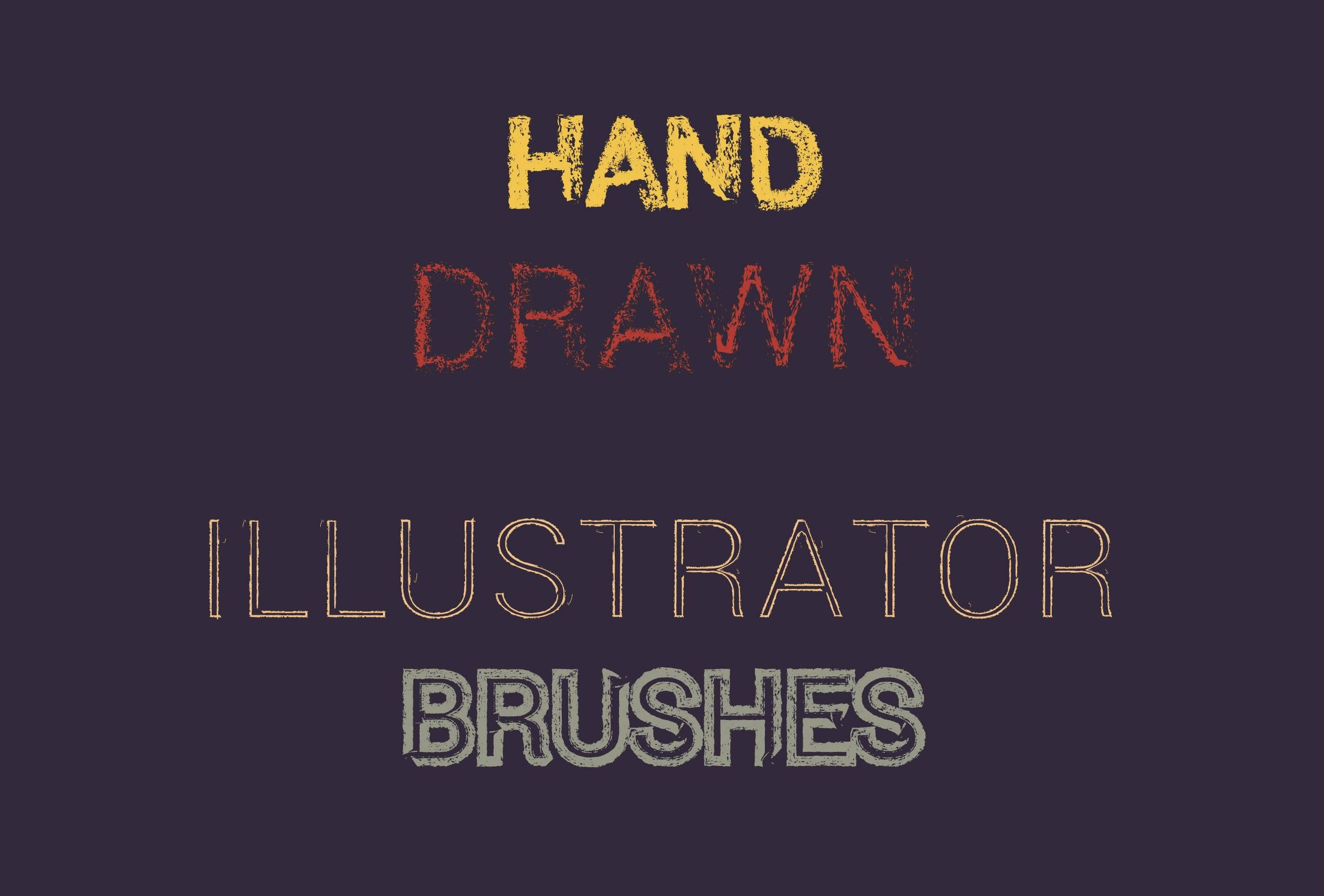 30 Best Line Art Illustrator Brushes (Wax Crayons) - brushes presentation 1111 0