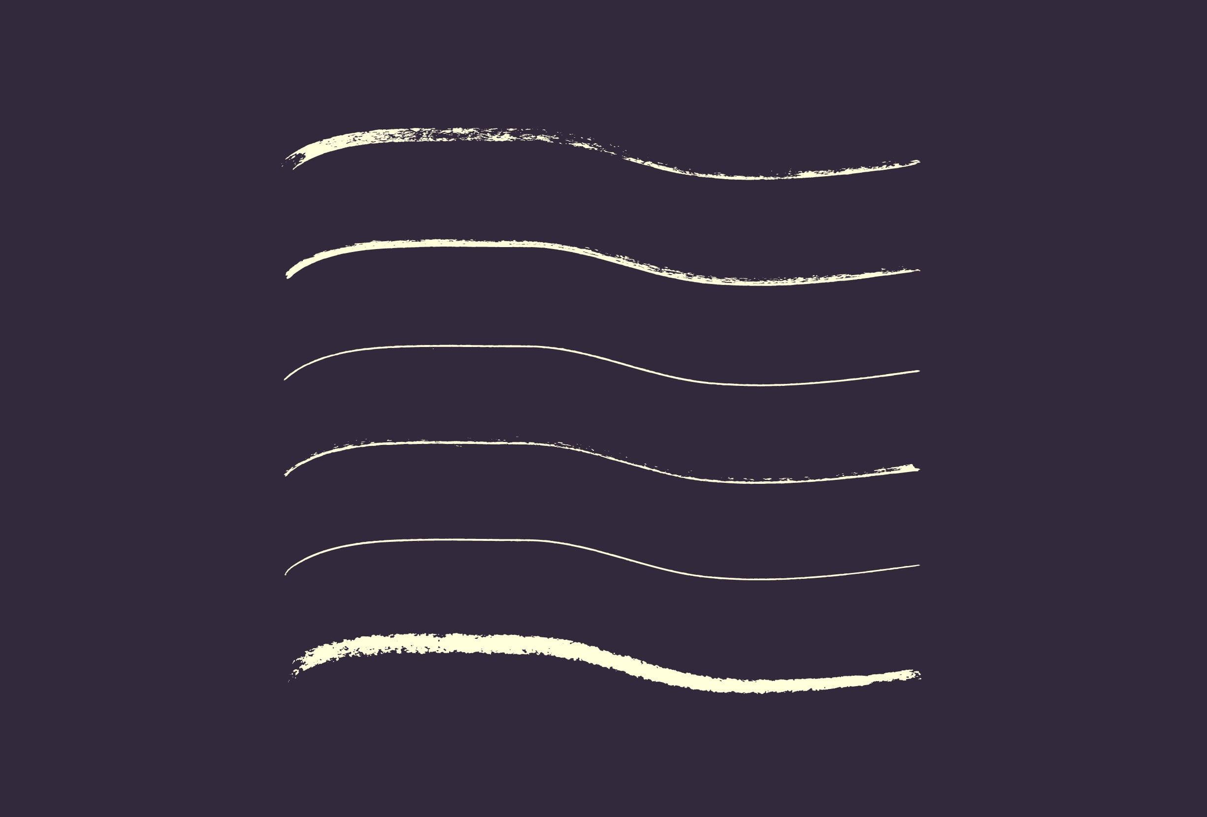 30 Best Line Art Illustrator Brushes (Wax Crayons) - brushes presentation 2 0