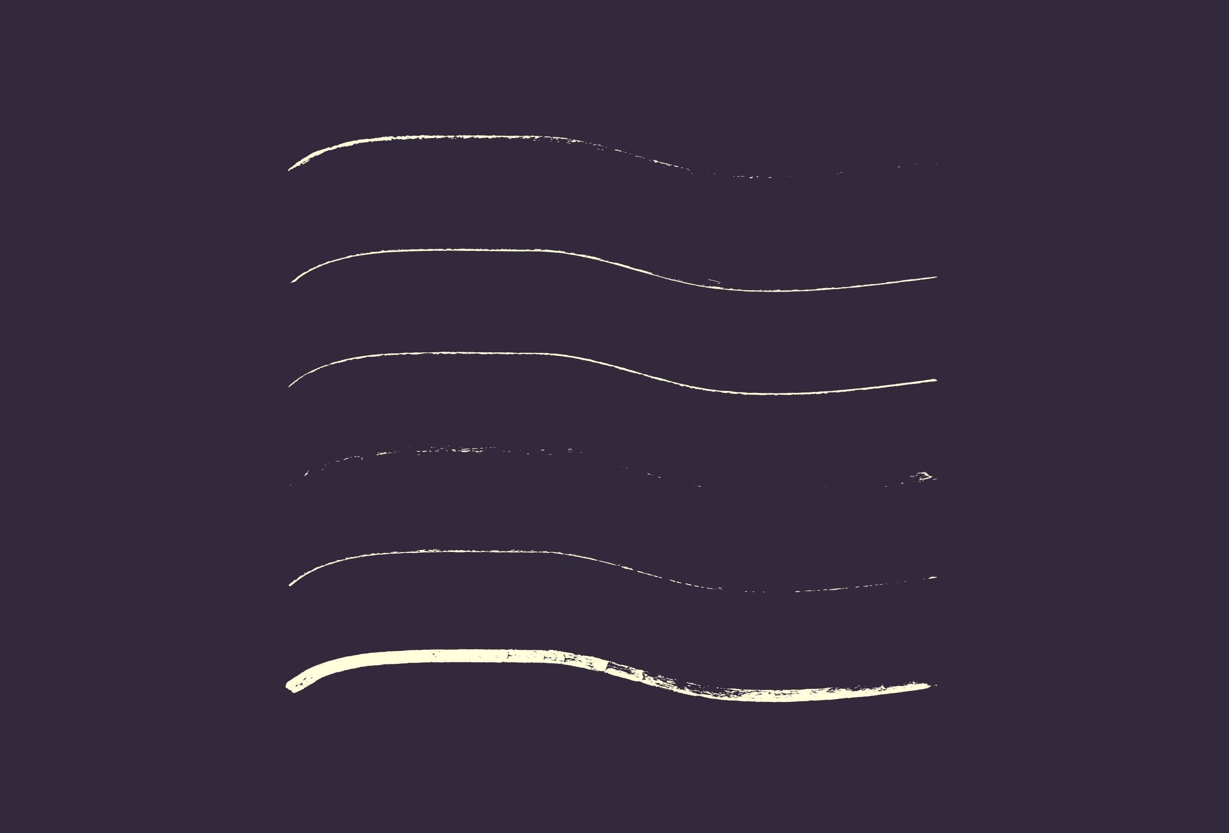 30 Best Line Art Illustrator Brushes (Wax Crayons) - brushes presentation 3 0