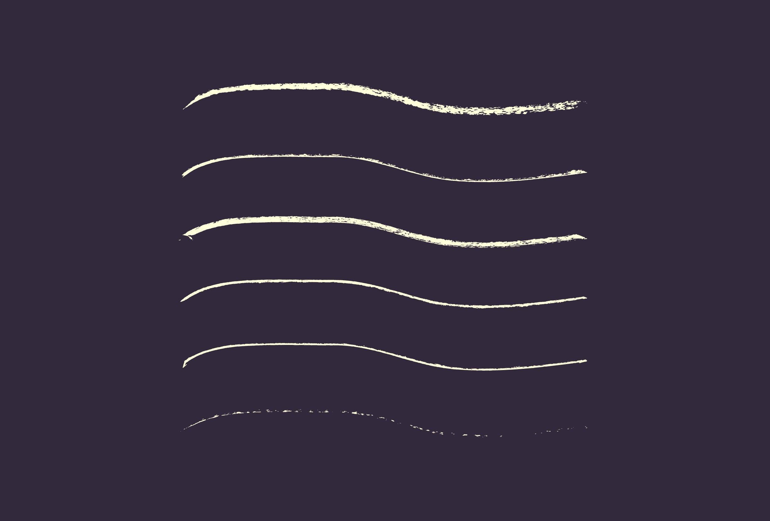 30 Best Line Art Illustrator Brushes (Wax Crayons) - brushes presentation 4 0