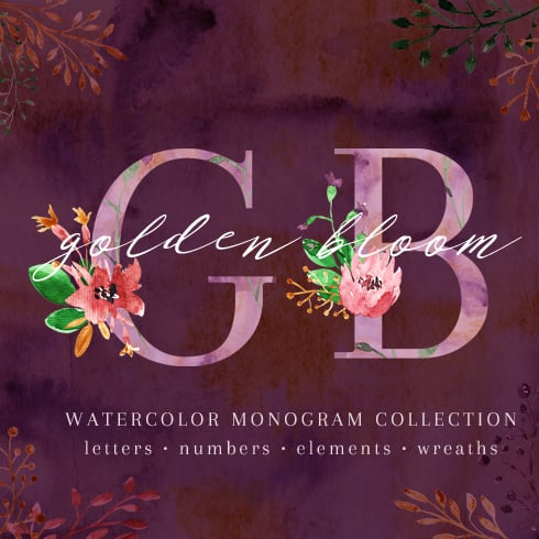 Watercolor Artistic Bundle with 93% OFF - golden 1 square