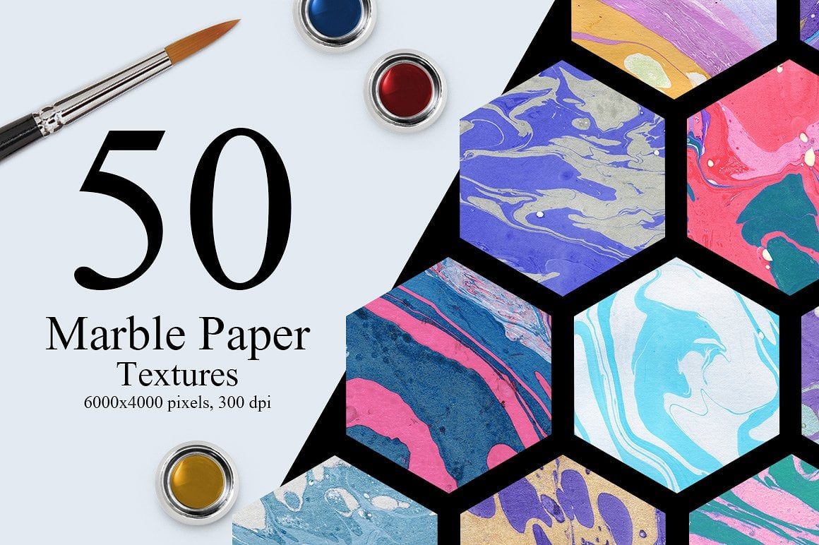 1100 Artistic Backgrounds Bundle - marble ink textures first image