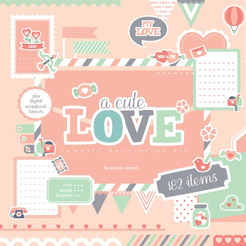 A Cute Love Romantic Decoration Kit - preview 01
