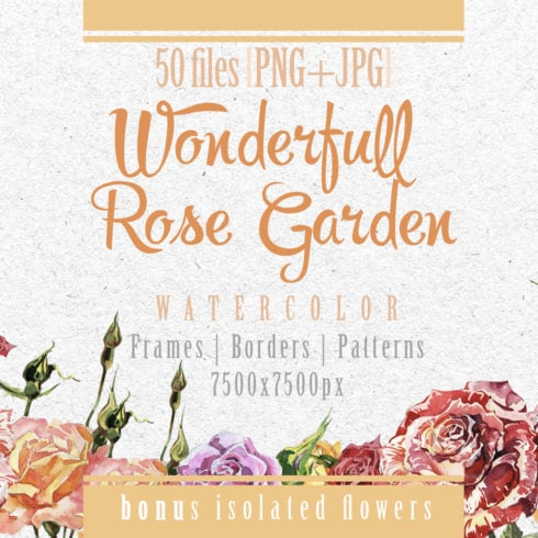 Wonderful Rose Garden PNG Watercolor Set - promo 1 2 490x490