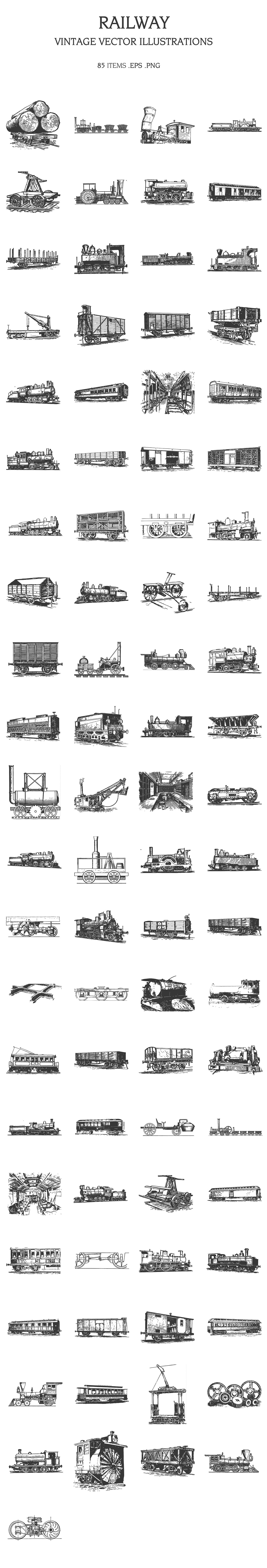 Railway tracks and stations of different times - from wooden runners to modern times.