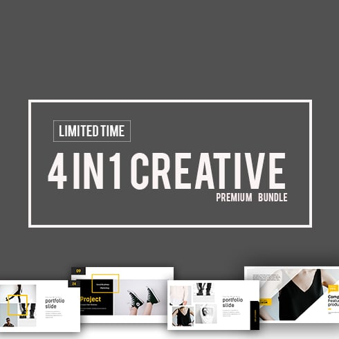 Simple Powerpoint Templates in 2019. 4 In 1 Creative Presentation Bundle - 490