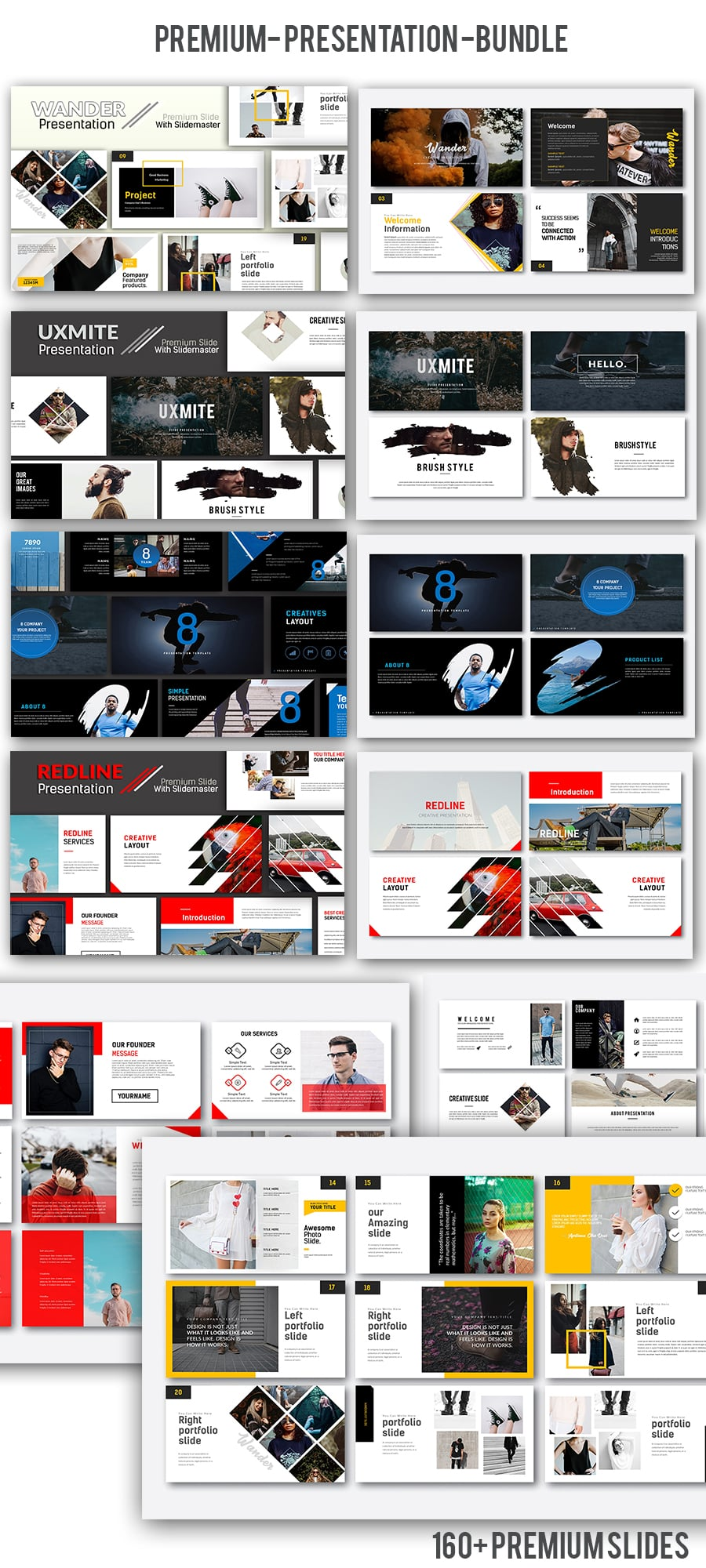 Simple Powerpoint Templates in 2020. 4 In 1 Creative Presentation Bundle - 900