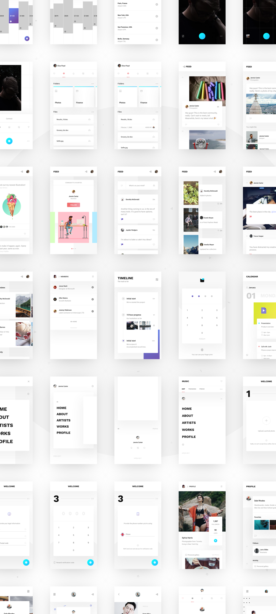 UTech Curated Screens, Layouts and Styles Bundle - 900x2000