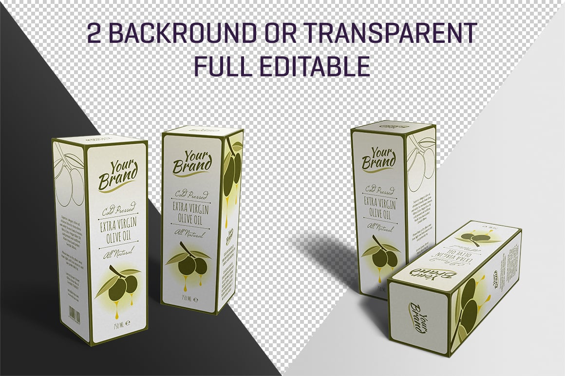 Olive Oil or Wine Box Mockup - cm3