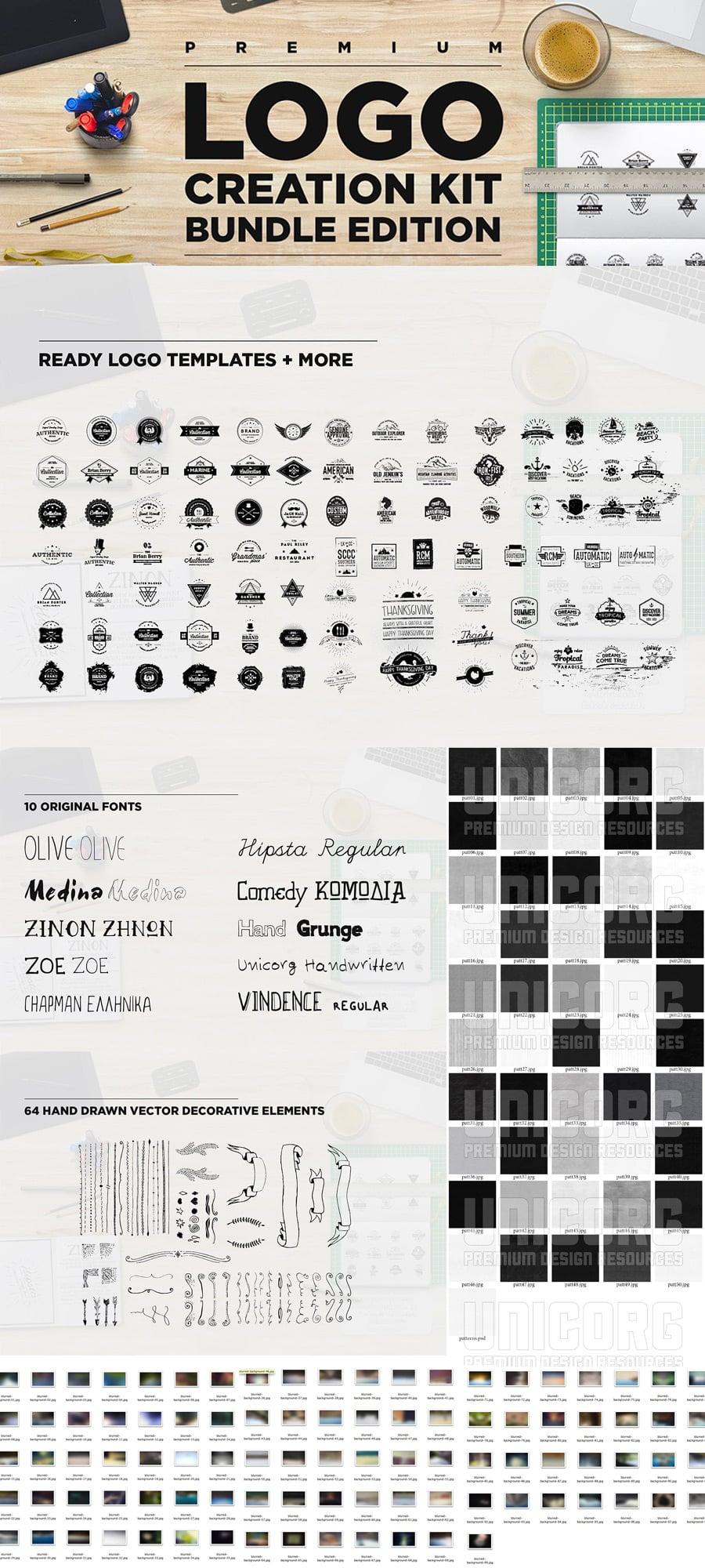 Logo Creation Kit Bundle - $19 - logokit bundle 4