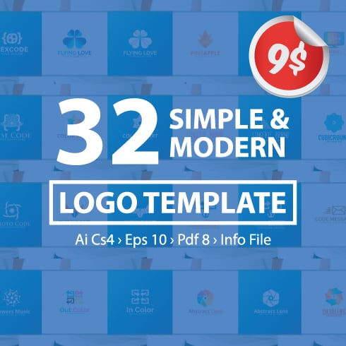 32 Simple and Modern Logo Templates - 01 Image Left 490x490px