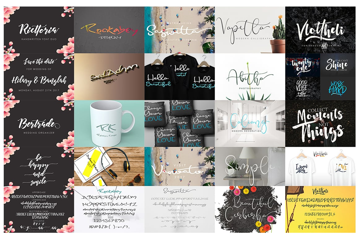 Stylish Calligraphy Fonts - 156 Fonts of 62 Typefaces - 10