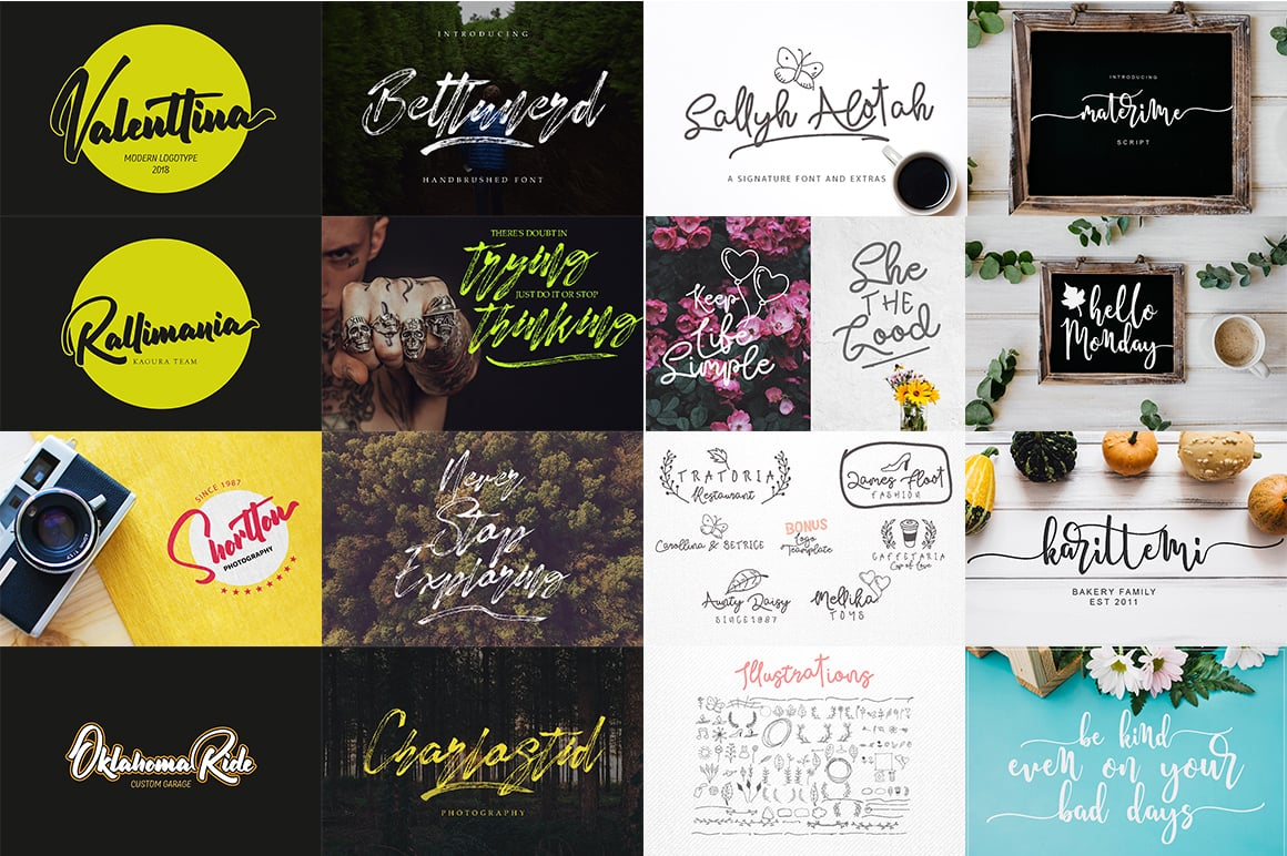 Stylish Calligraphy Fonts - 156 Fonts of 62 Typefaces - 11