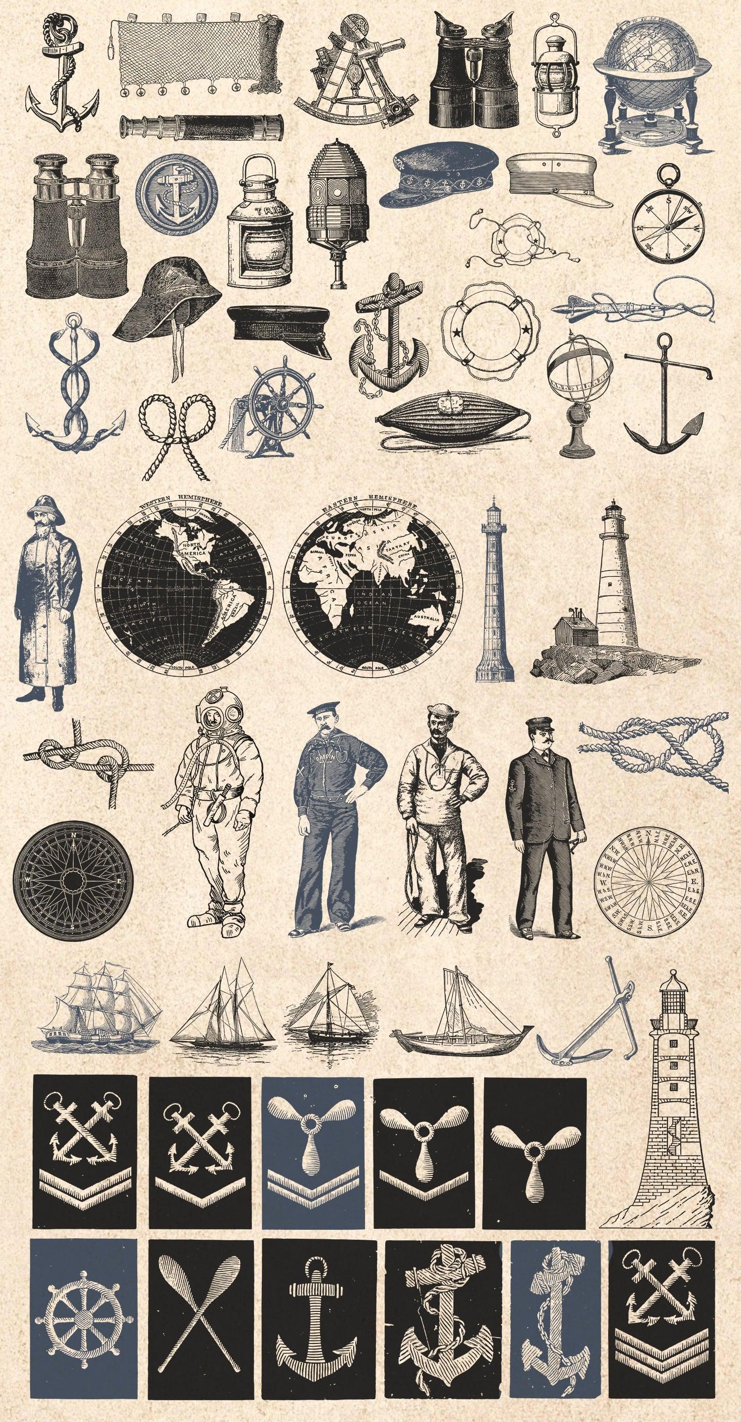 1000 Vintage Illustrations with 80% OFF - 12 seafarer