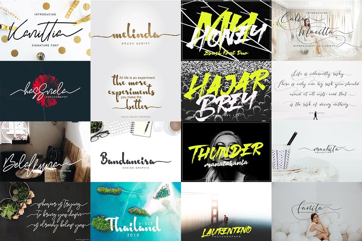 New Style Font Bundle: 156 Fonts!