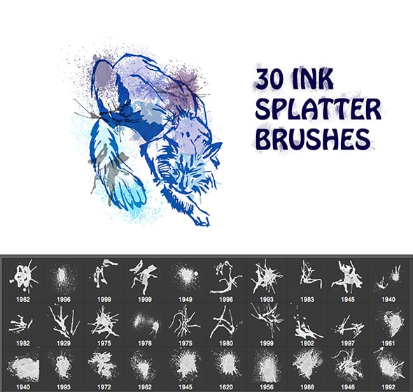 Ink Splatter Brushes