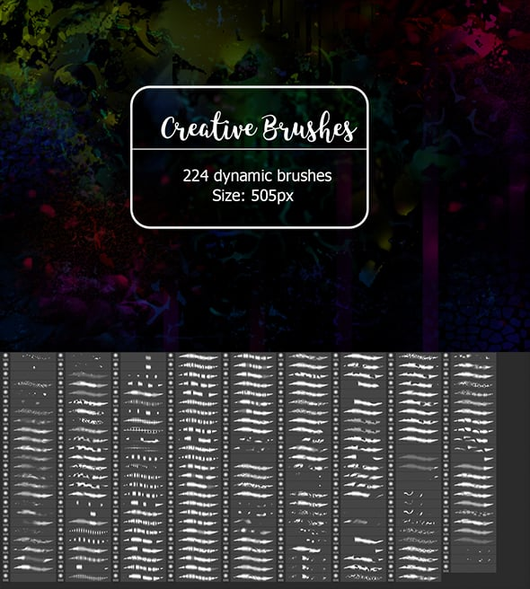 Mega Creative Bundle: brushes, actions, swatches and more - 30 Creative Brushes