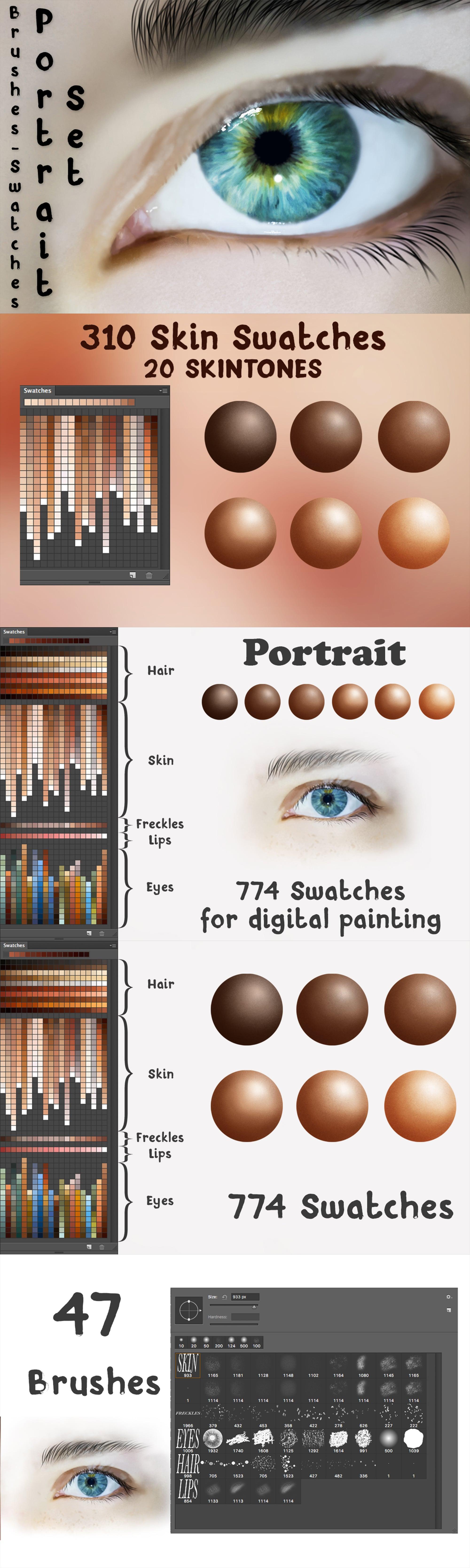 Portrait Set for Photoshop