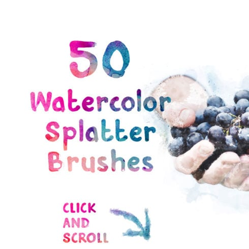 50 FREE Watercolor Splatter Brushes - $0 - 490 2 490x490