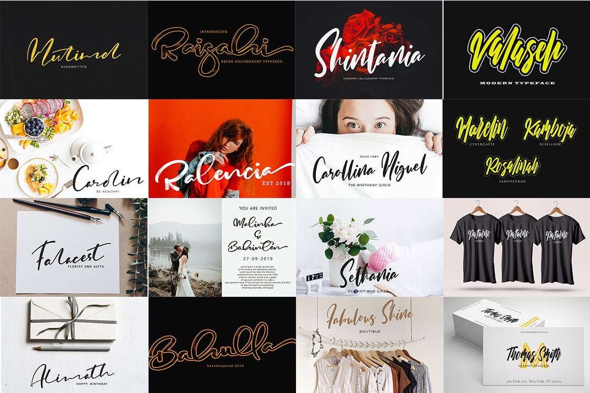 Stylish Calligraphy Fonts - 156 Fonts of 62 Typefaces - 5