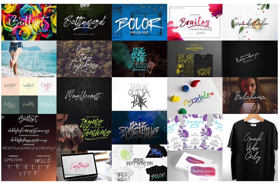 Stylish Calligraphy Fonts - 156 Fonts of 62 Typefaces - 7