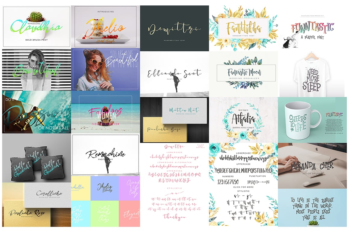 Stylish Calligraphy Fonts - 156 Fonts of 62 Typefaces - 8