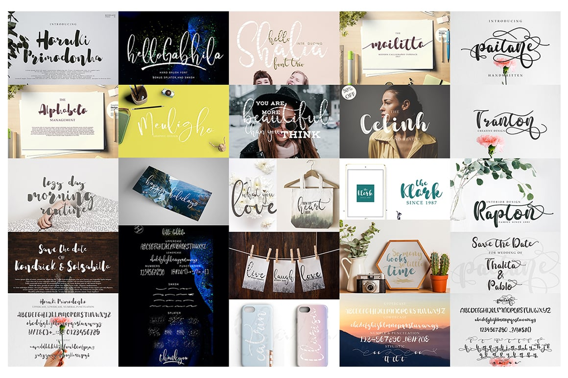 Stylish Calligraphy Fonts - 156 Fonts of 62 Typefaces - 9