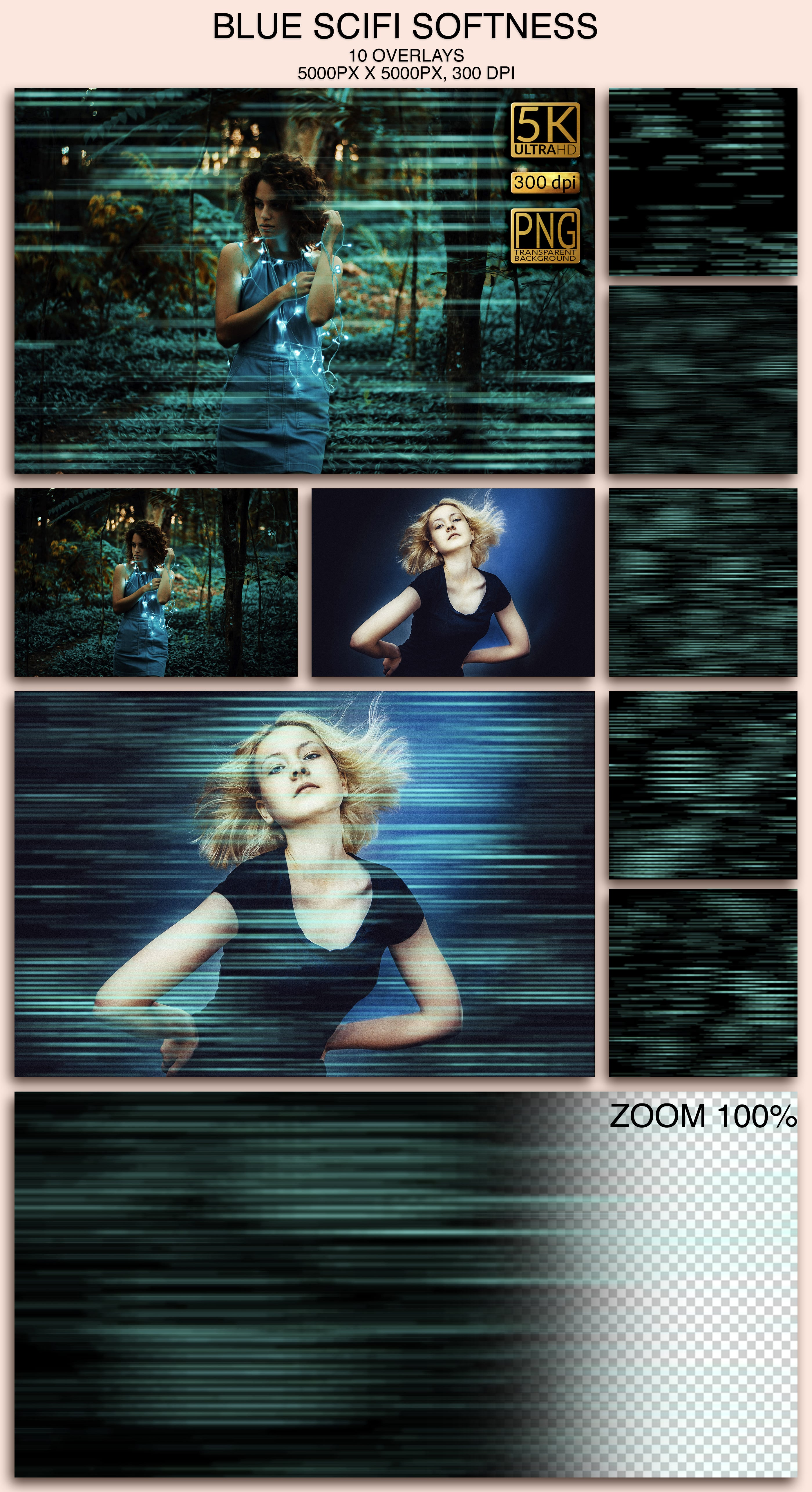 2006 Overlays Photoshop Bundle - Blue SciFi Softness Preview
