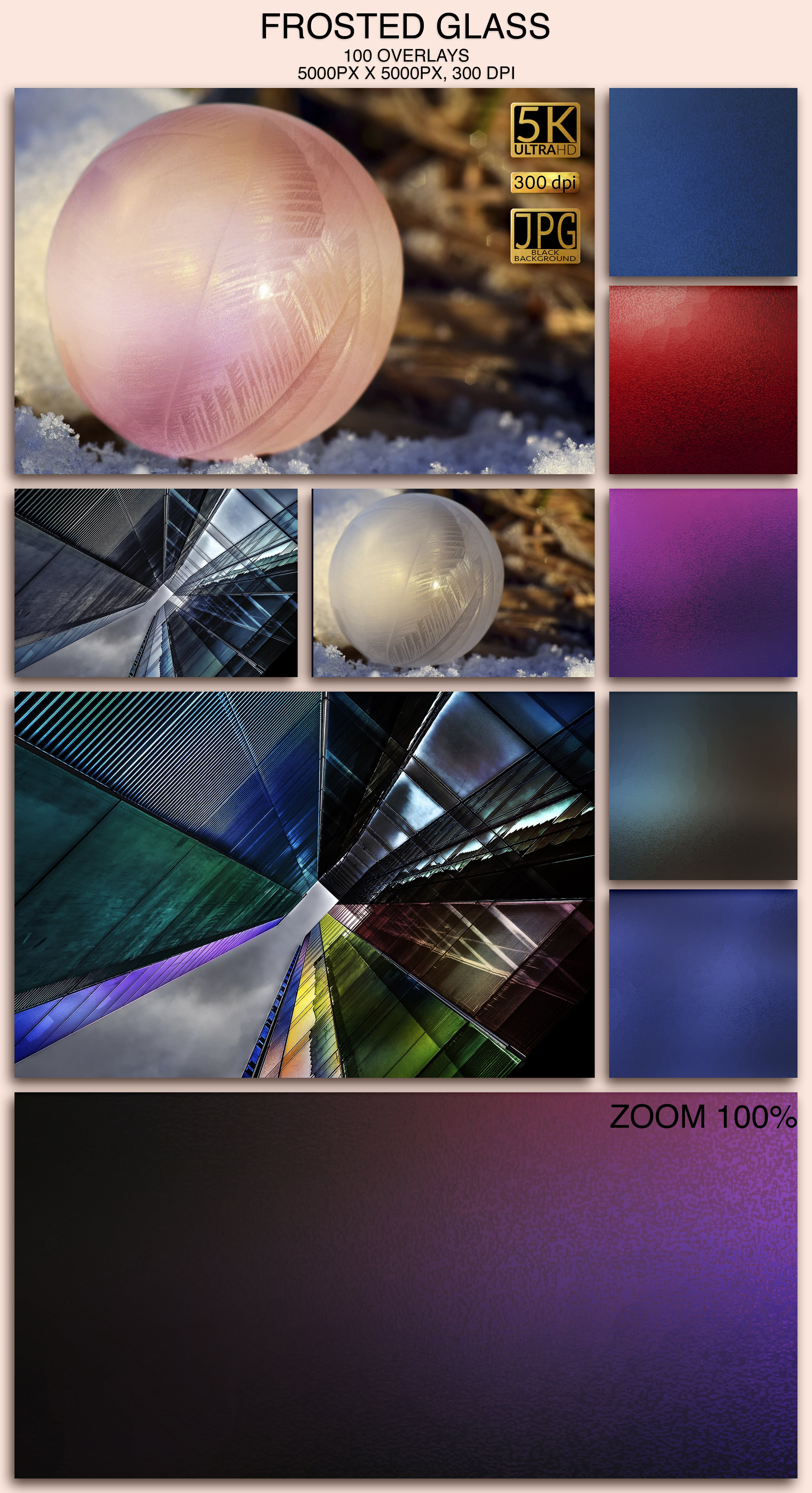 2006 Overlays Photoshop Bundle - Frosted Glass Preview