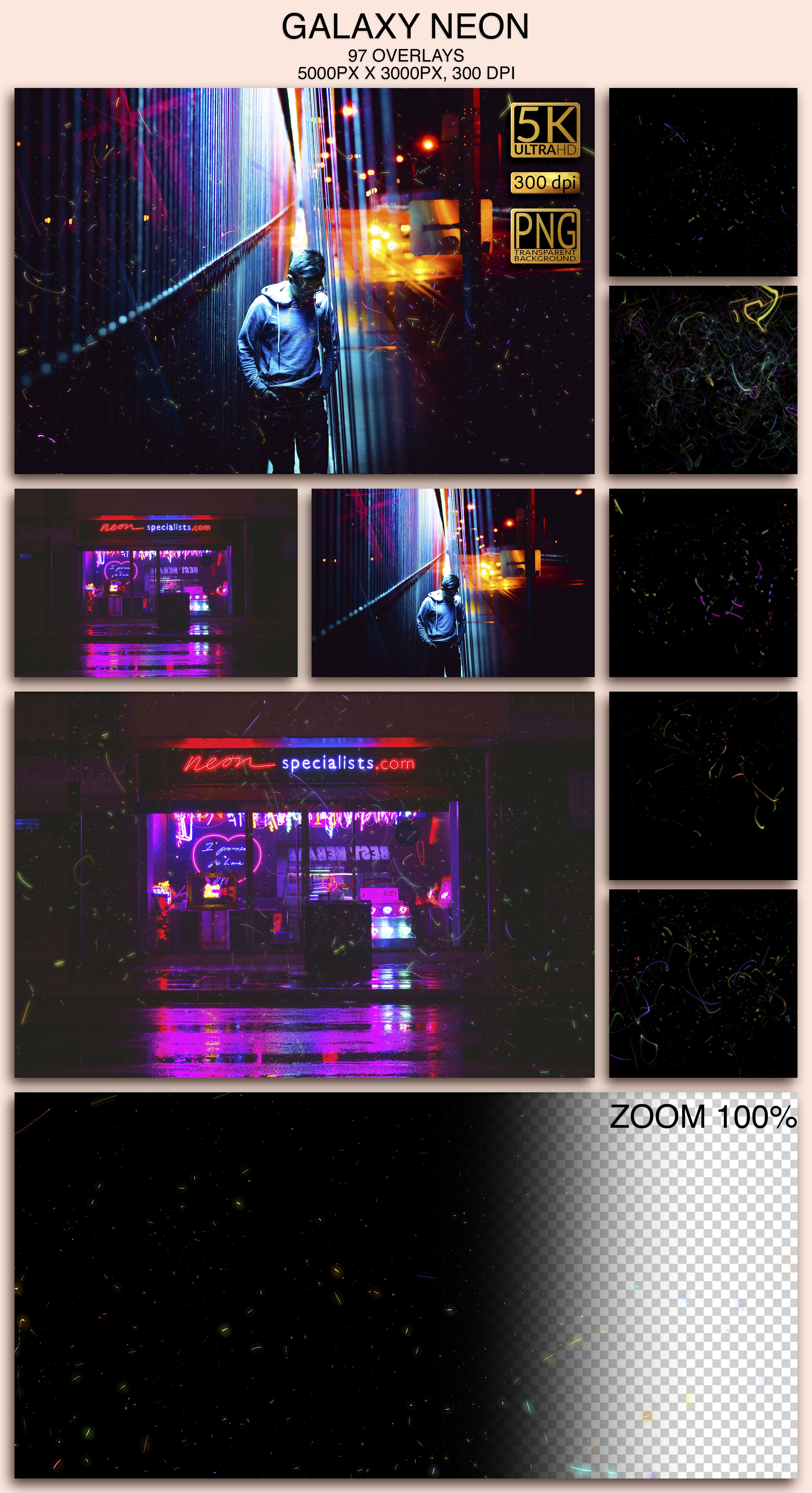 2006 Overlays Photoshop Bundle - Galaxy Neon