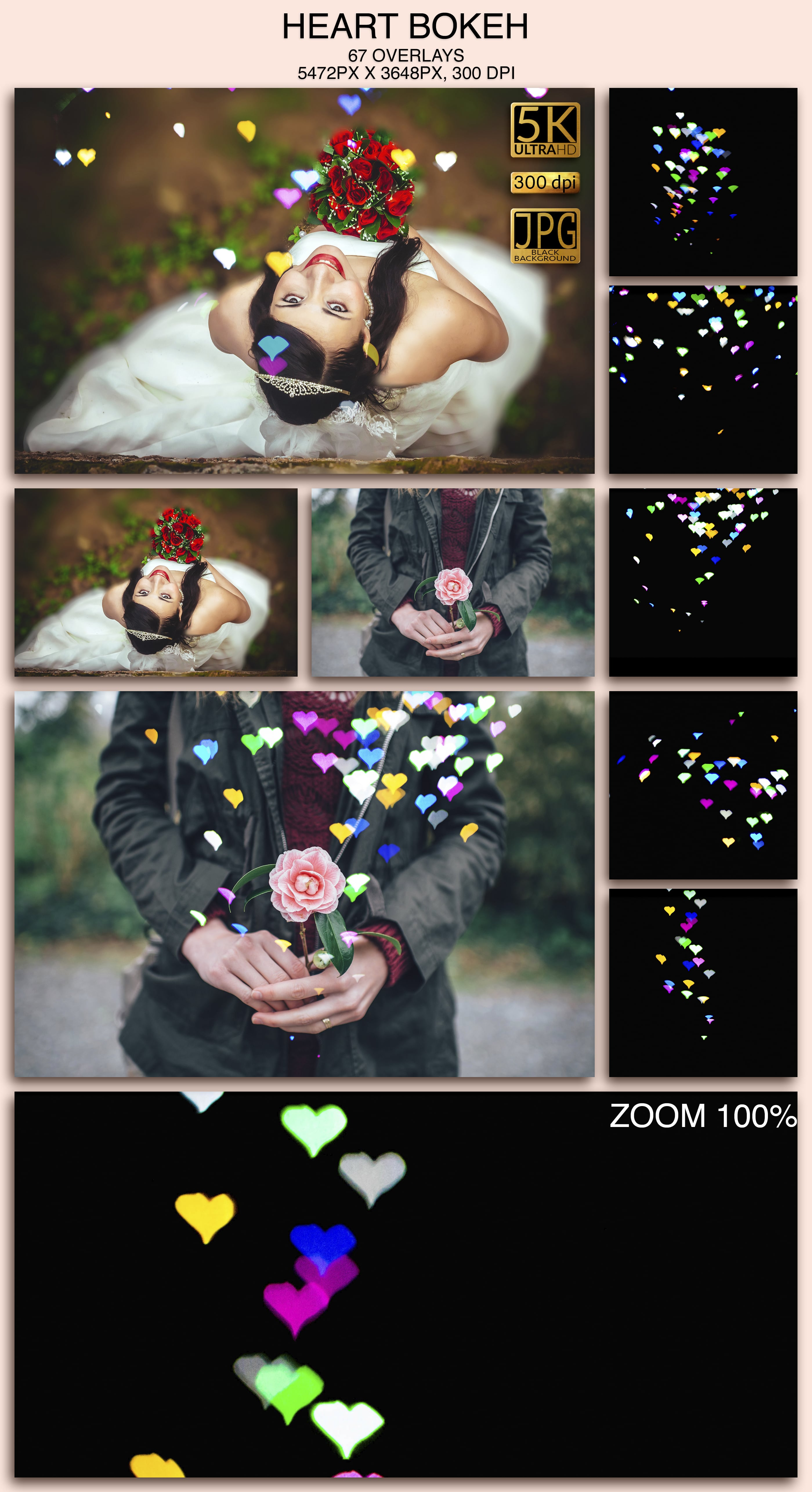 2006 Overlays Photoshop Bundle - HeartBokeh Preview
